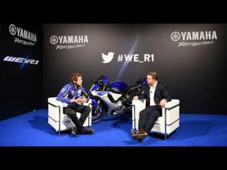 Valentino Rossi live chat #We_R1 - New Yamaha YZF-R1 Press Première - EICMA 2014